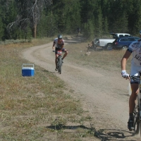 Joshua Berry out in front on his way to victory