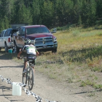 Tinker Juarez out on the Galena Grinder course