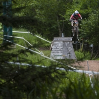 A rider gets some big air on Snowshoe Mountain