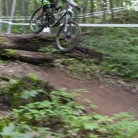 Logan Binggeli speeds down Snowshoe Mountain