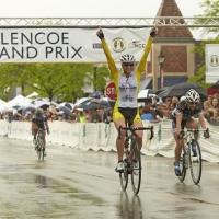 Erica Allar celebrates winning the women