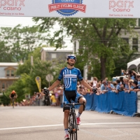 Kiel Reijnen rides to victory at the 2013 Park Casino Philly Cycling Classic