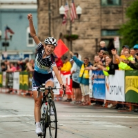 Lauren Stephens attacked up a steep climb to steal the win in stage 5