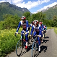 The squad goes for a spin on a cool day before Trofeo Karlsberg