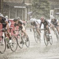 The women raced through periodic, heavy downpours at the 2013 Glencoe Grand Prix
