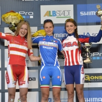 Kate Courtney earned bronze at the 2013 Cross-Country MTB World Cup in Albstadt, Germany.