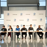The press conference athlete line-up