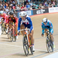 Beth Newell took 3rd in the points race portion of the omnium