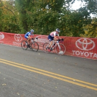 Katie Compton and Katerina Nash dueling on course