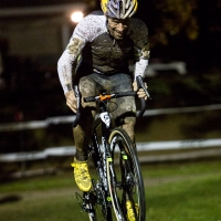 Tim Johnson digging deep during the elite men