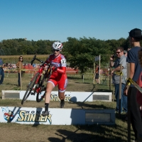 Elle Anderson navigating the barriers on course