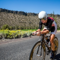 The riders contested the time trial in Prineville