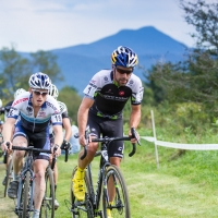 Tim Johnson chased by Stephen Hyde-Catamount Grand Prix