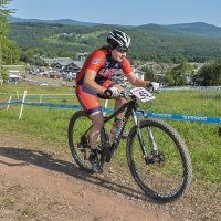 Ginny Jeppi competes at the 2014 UCI MTB World Cup in Windham, N.Y.