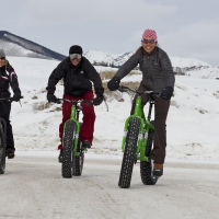 Fat bike riding with friends in Crested Butte (Photo by Vicky Sama)