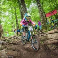 Elinor Wesner took third at the Beech Mountain Pro GRT.