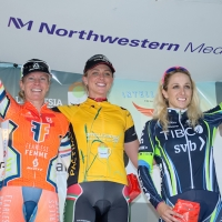 Tina Pic, Erica Allar and Samantha Schneider (l to r) top the women