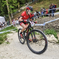 Kate Courtney placed 10th at the UCI Mountain Bike World Cup #4.