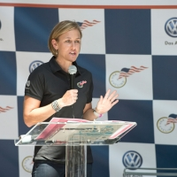 Kristin Armstrong talks about the USA Cycling Development Foundation