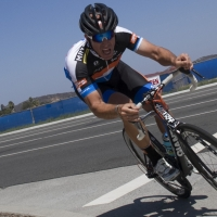 Harold Martinez digs deep to bridge a gap to the leaders at a CSUSM 45+ road race.