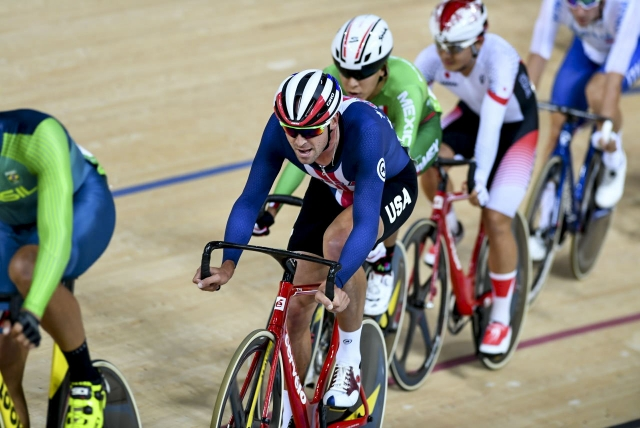 Lea was 17th in the omnium scratch race