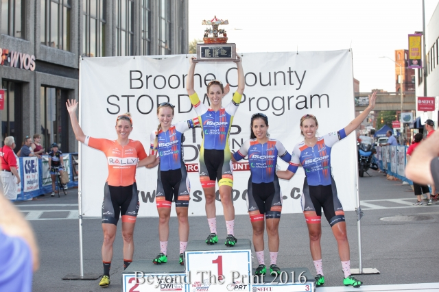 Samantha Schneider and ISCorp Cycling lead the women's PRT standings after a strong August.