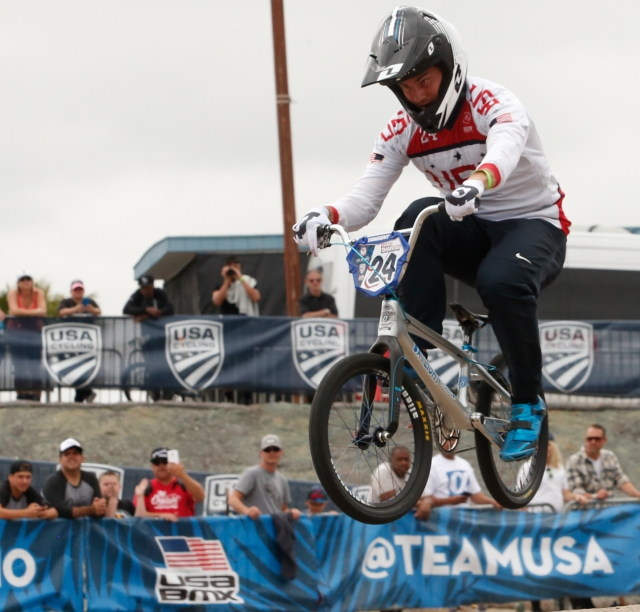 Corben Sharrah clinched his Olympic spot with the U.S. Olympic Team Trials - BMX win.