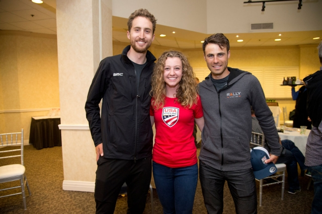 Taylor Phinney, Emma White and Jesse Anthony were on hand for Thursday's reception.