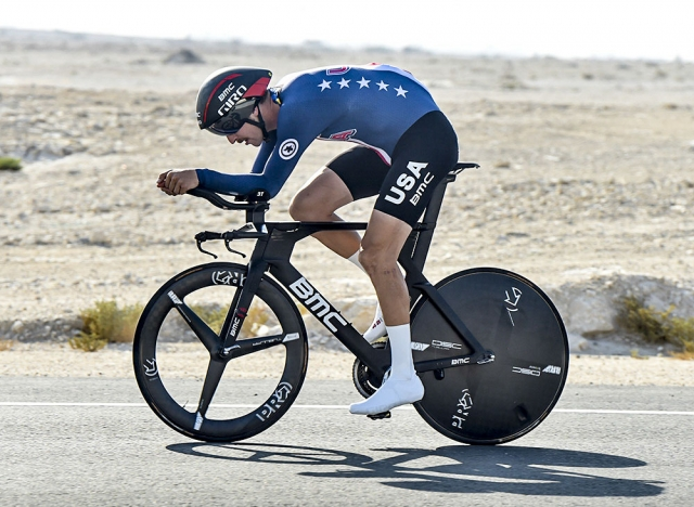 Taylor Phinney finished 15th in the men's time trial on Wednesday.
