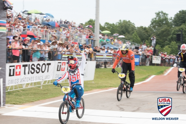 Tyler Brown for hte win in the Men's Masters race