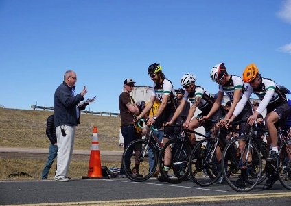 RMCCC riders get ready for the Frostbite TTT.