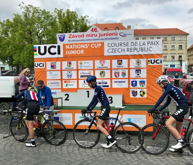 U.S. riders sign in for the 2017 Peace Race in the Czech Republic