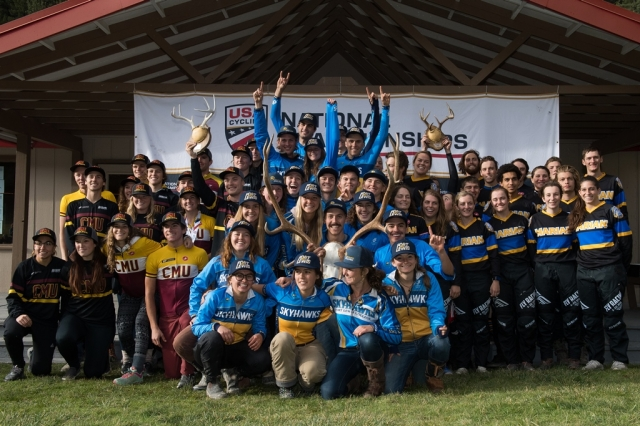 Omnium titles decided on muddy final day of Collegiate MTB Nationals in Montana