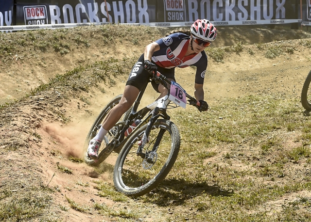 Gwendalyn Gibson was the top rider for the USA on Friday