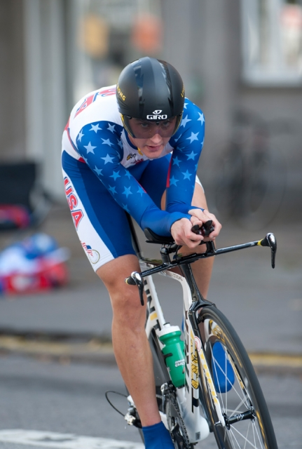 Carter Jones in the U23 men's time trial.