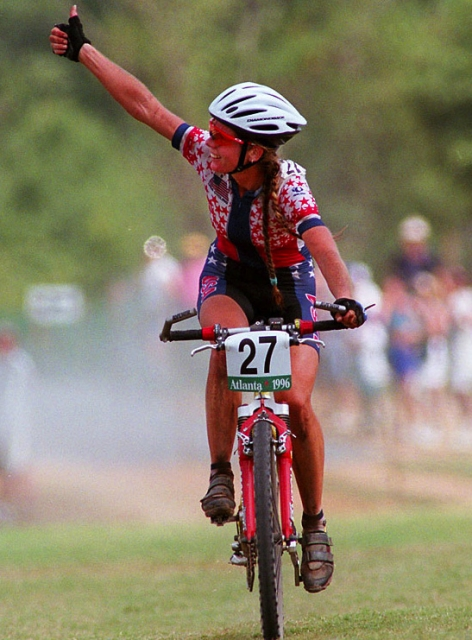Susan DeMattei earned her spot in the history books as the first American to win an Olympic medal in mountain biking.