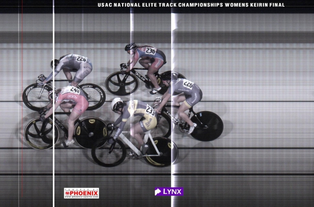 The women's keirin came down to a photo finish.