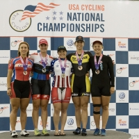 Cristin Walker on top of the podium for the women