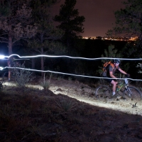 With Colorado Springs in the background, Palmer Park was aglow with riders