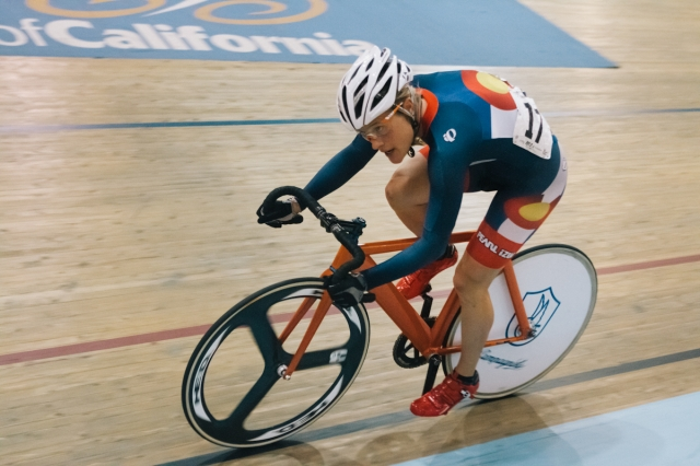 Katie Compton teamed up with Cari Higgins in the women's Madison.