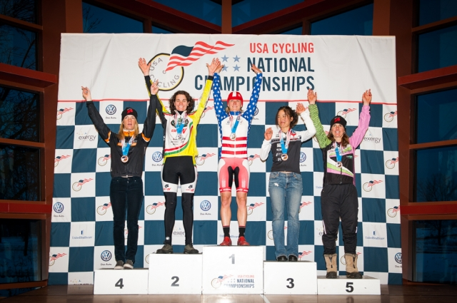 Susan Butler stands atop the podium Thursday in the Stars-and Stripes